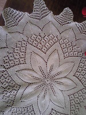 4eea1cc317ea Aqui os pongo el patrón del pañito o carpeta de 5 agujas.