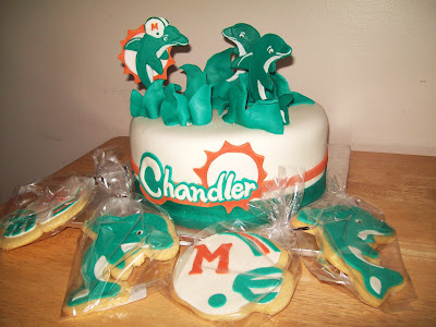 Layers Of Love Miami Dolphins Cake Cookies