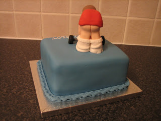 Sarah T Cakes Birthday Cake With Weight Lifter On