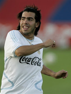 Returning to Argentina's Carlos Tevez