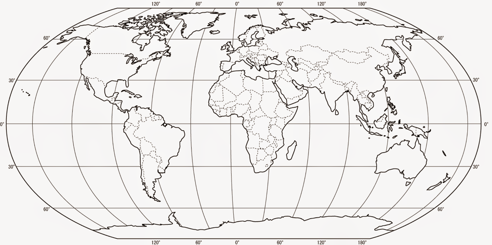 Greig Roselli Blank World Map For Printing With Borders
