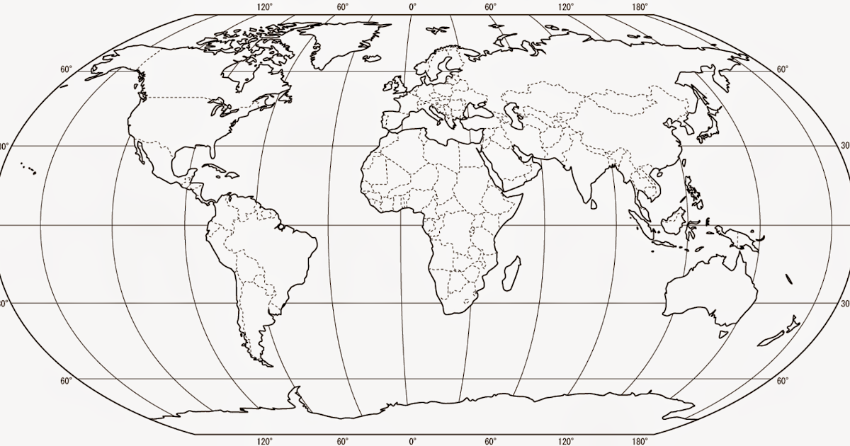 Greig Roselli: Blank World Map for Printing (with borders)