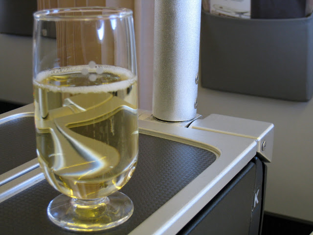 Trip report on Japan Airlines JL061: Champagne Piper Heidsieck is served as welcome drink