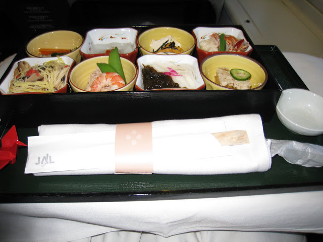 Japanese appetizers on JL061