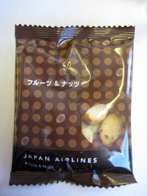 Fruits & nuts snacks in JAL Business Class