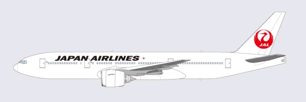 Japan Airlines (JAL) new livery with the old crane logo