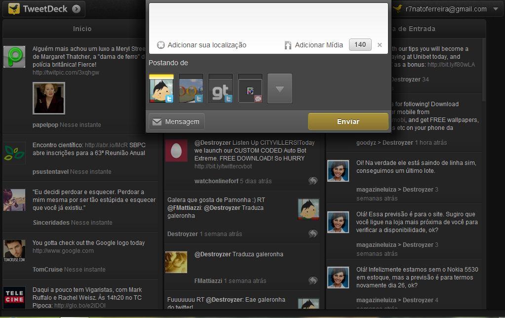 tweetdeck em portugues