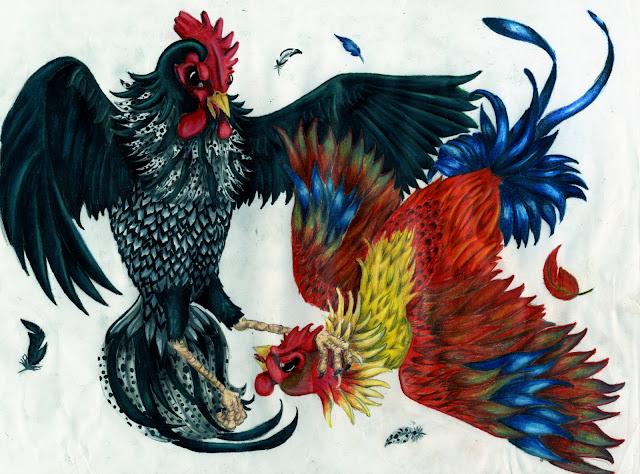 Cock Fight Tattoo 62