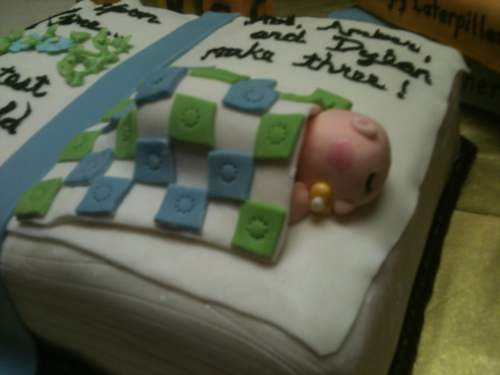 Stacked Book Cake For Baby Shower