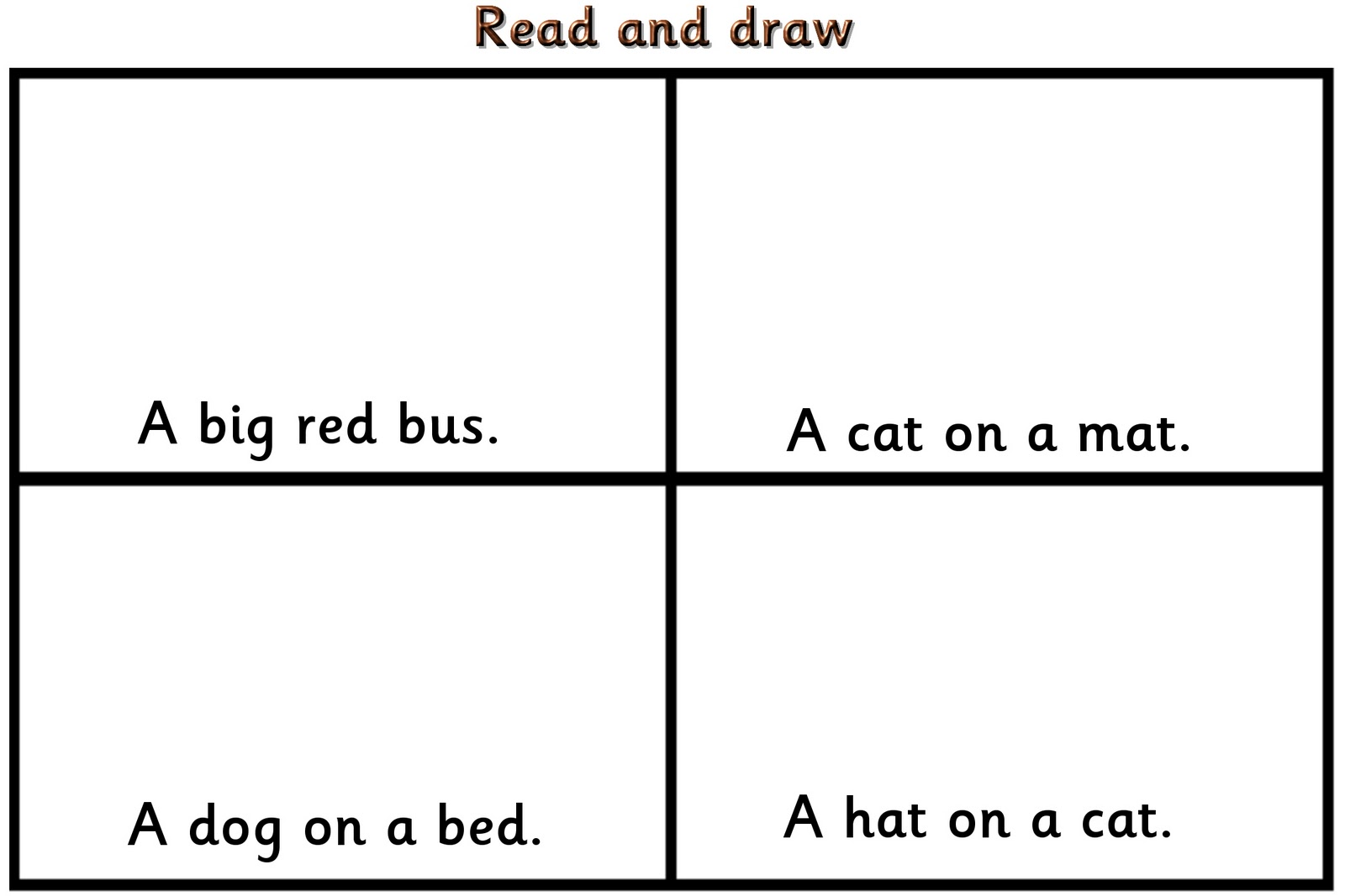 read write and draw worksheets