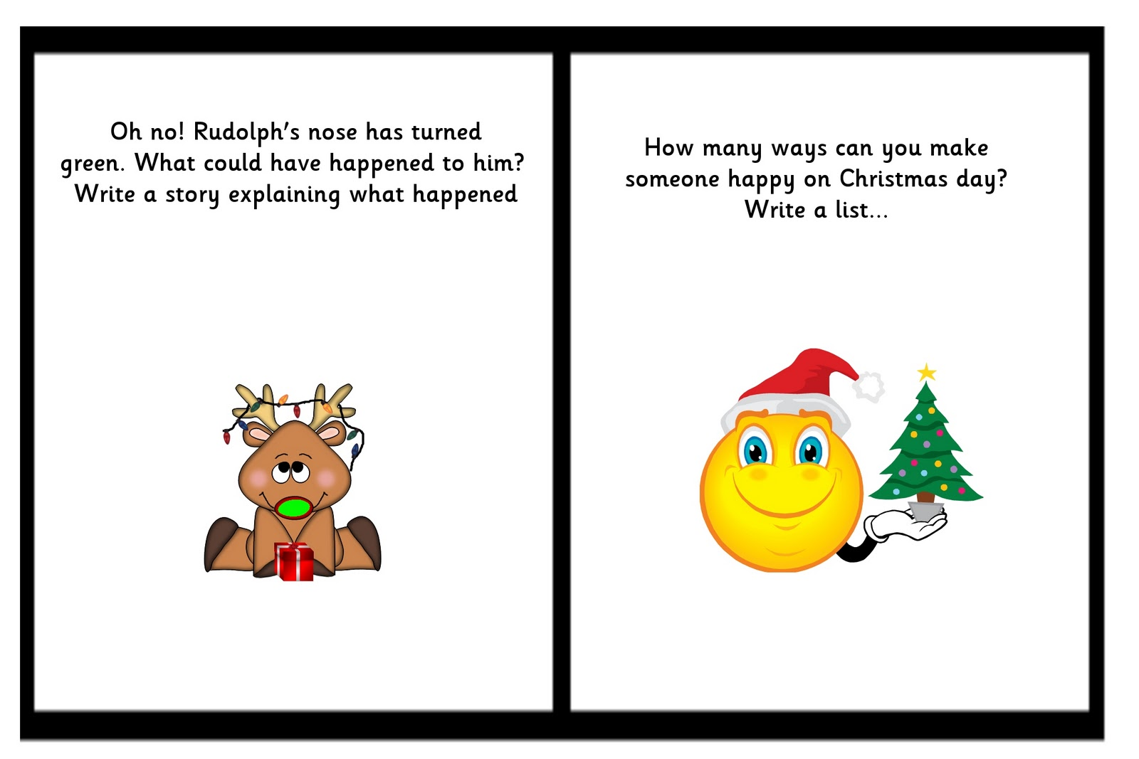 Debbie S Resource Cupboard Christmas Writing Prompts