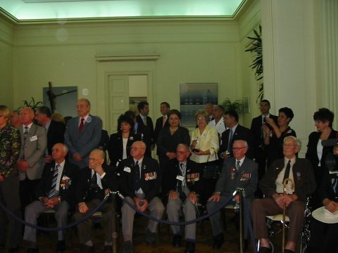 Battle of Crete Veterans at Foreign Ministry Reception