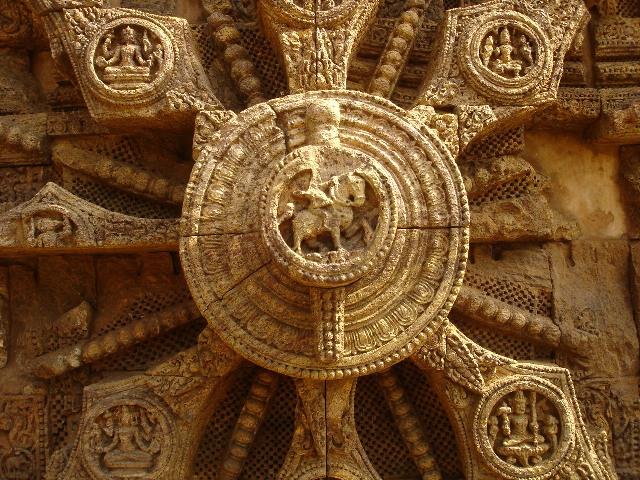 Konark Sun Temple wheel Orissa Odisha stone carvings travel tourism