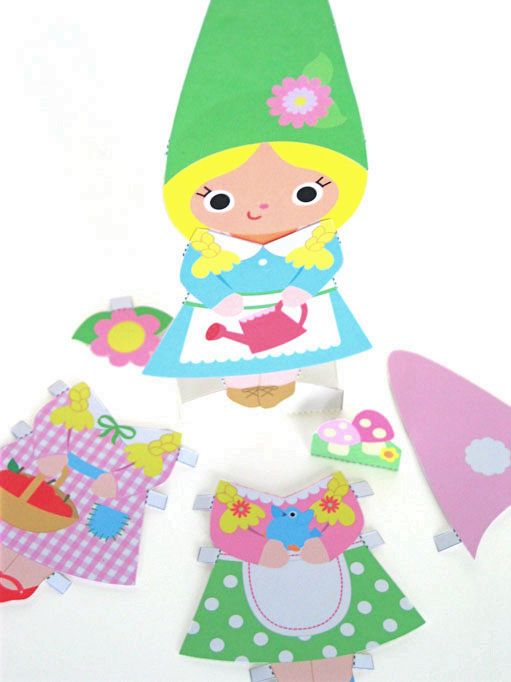 Gnome Head Paper Craft