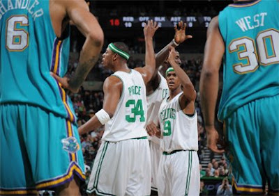 Pierce, Garnett e Rondo / Foto: NBA