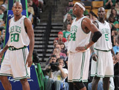 Allen, Pierce e Garnett / Foto: NBA