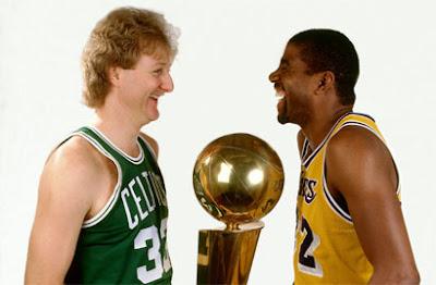 Larry Bird e Magic Johnson / Foto: NBA