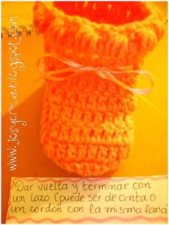 Curso de tejido a mano: Escarpines en crochet