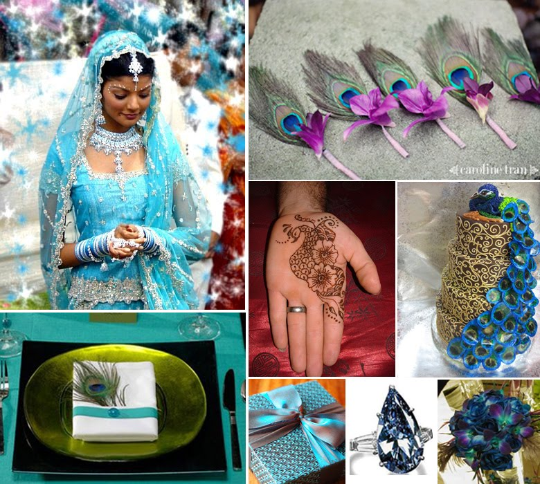 Indian Wedding Themes Ideas: Peacock Wedding Ideas And Supplies: Peacock Themed Indian
