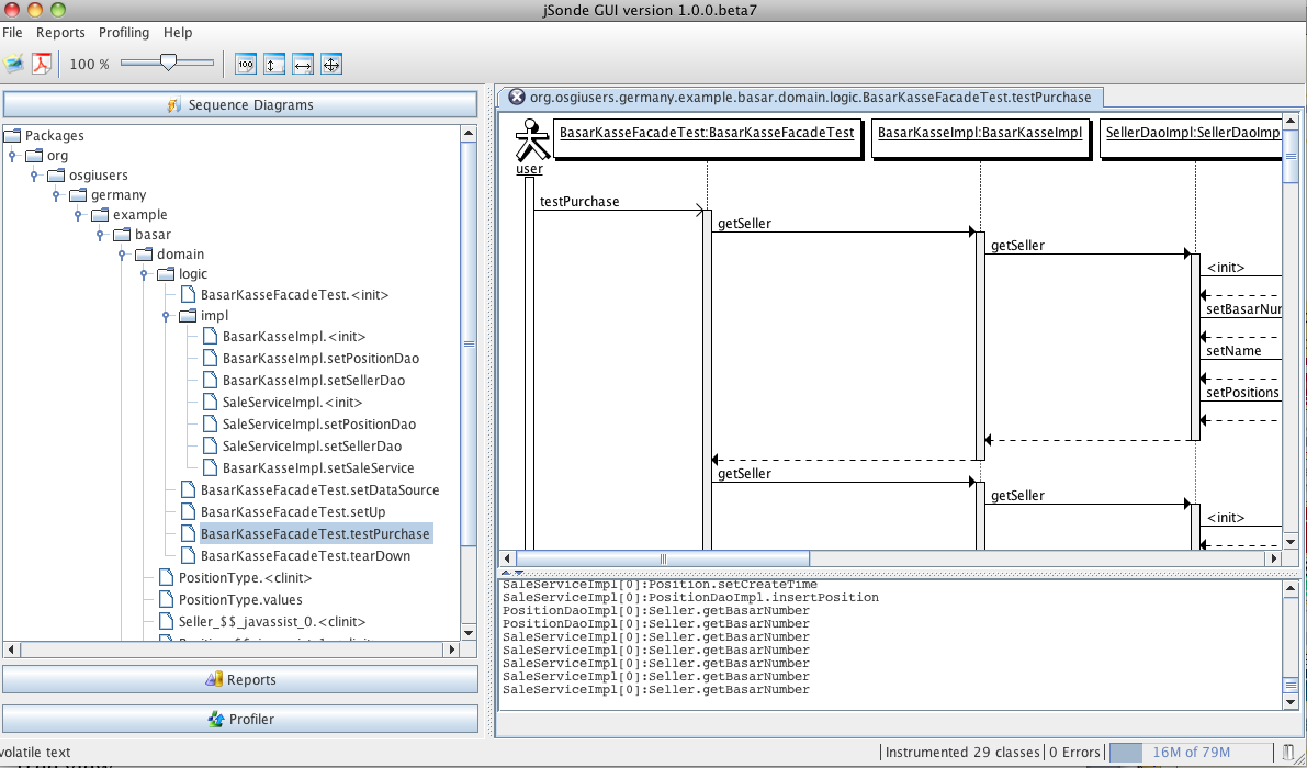 here the full uml sequence diagram for the purchase test implementation  [ 1191 x 700 Pixel ]