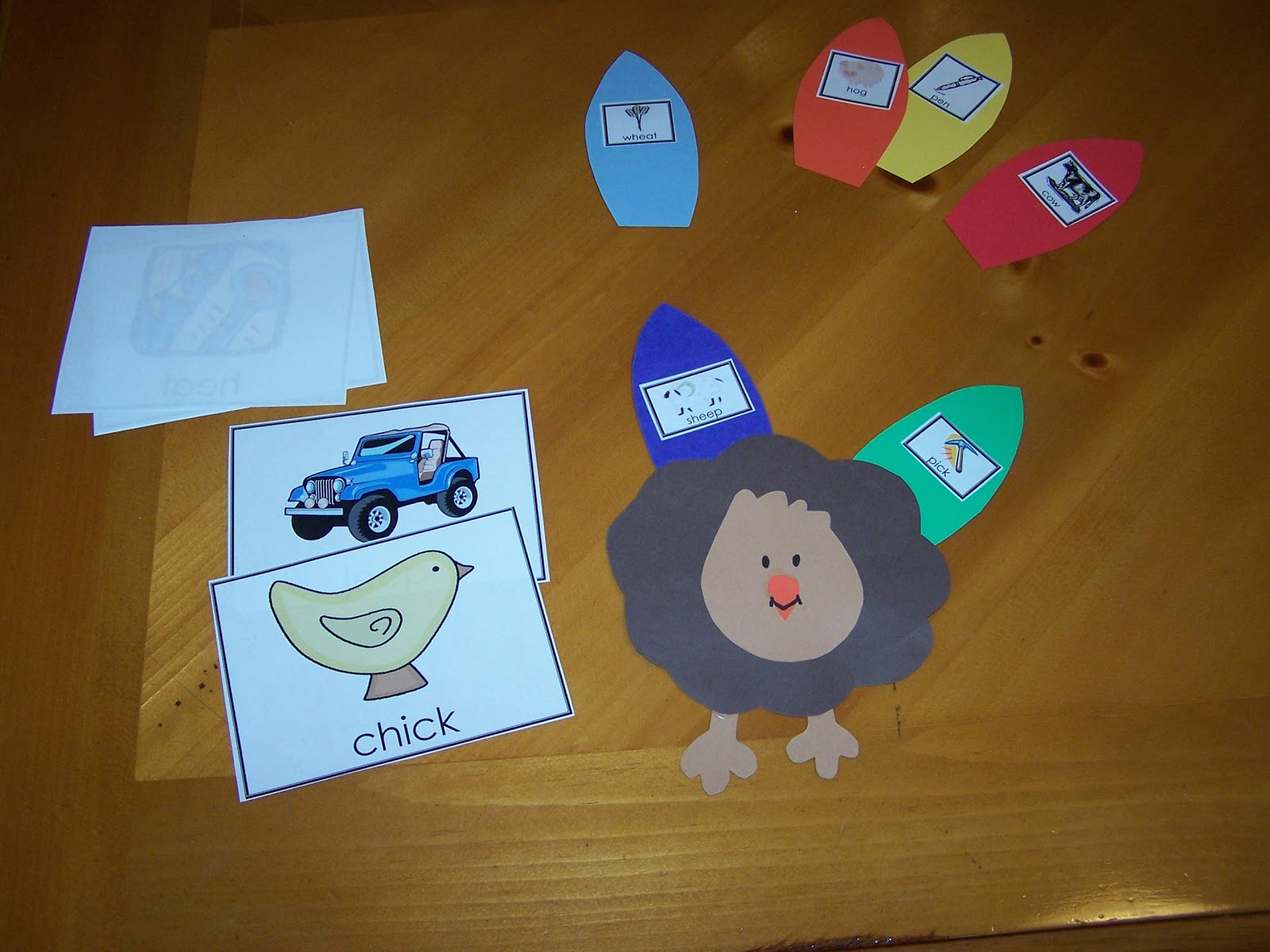 Learning And Teaching With Preschoolers Turkey Rhyming Game