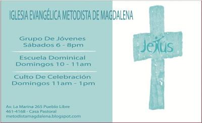 Movimiento Juvenil Iglesia Metodista De Magdalena Febrero