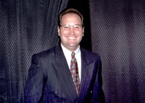 Eric Scheibeler, Author of merchants of deception backstage an Amway motivational seminar