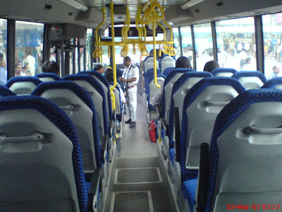 inside view of Volvo B7RLE city bus