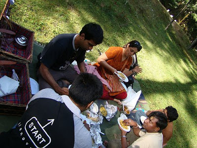 Lunch time while returning from Jageshwar