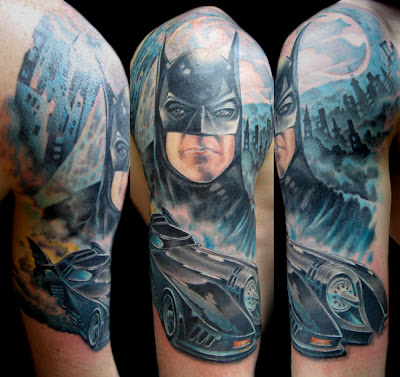 tatuagem rosto do batman