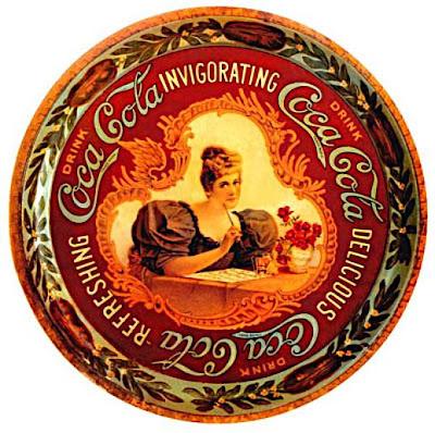 cartaz antigo da coca-cola