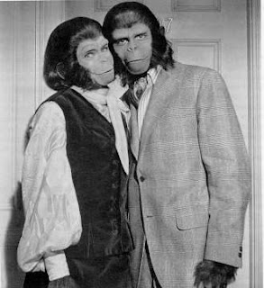 a loving couple from planet of the apes