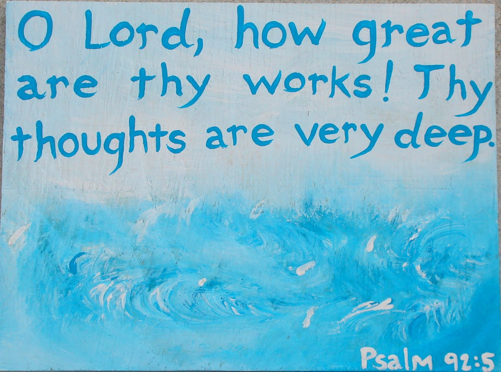 Made With Love By Marcie Psalm 92 5