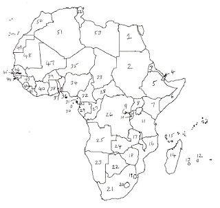 Numbered Map Of Africa.Africa Map Numbered Campinglifestyle