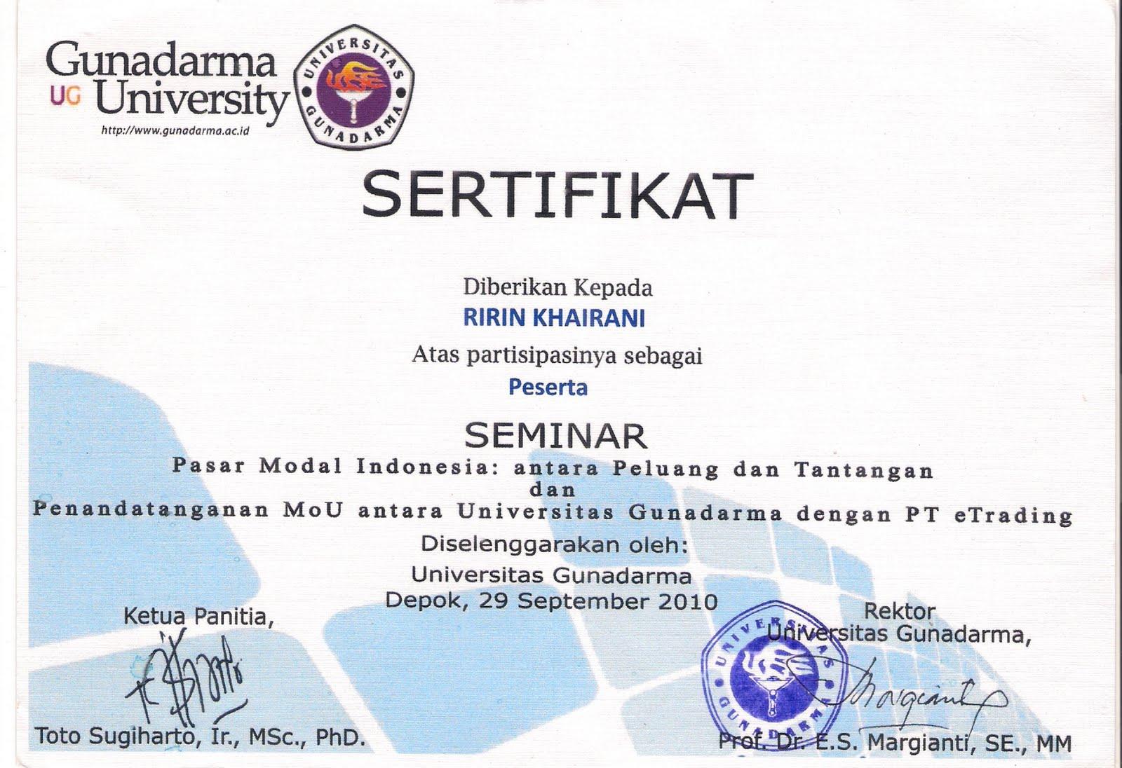 kantongajaibdoraemon: Sertifikat Seminar, Workshop dan ...
