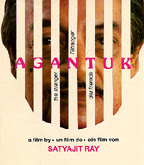 Poster of Agantuk (The Stranger), 1991 designed by Satyajit Ray