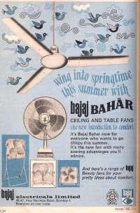 old Ad for Bajaj fan