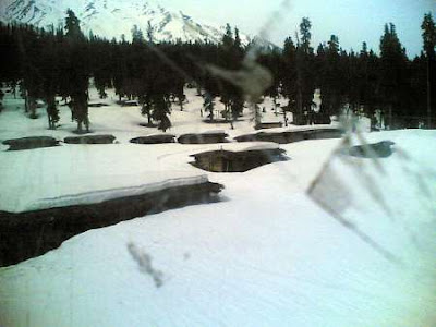 Snow at Gulmarg, Kashmir. - April, 2006.