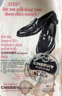 An Old Ad of Cherry Blossom shoe polish