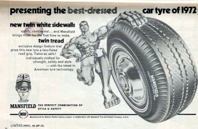 Old Ad of MRF tyre