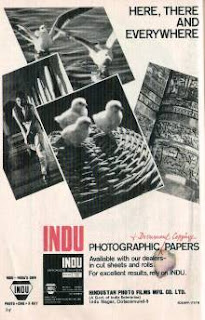 Old Ad of Indu photographic paper