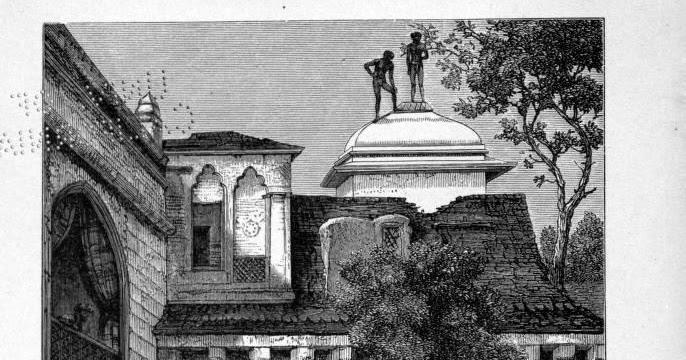 Dilli Baoli, 1870. Jumping Wells at Delhi. Still.