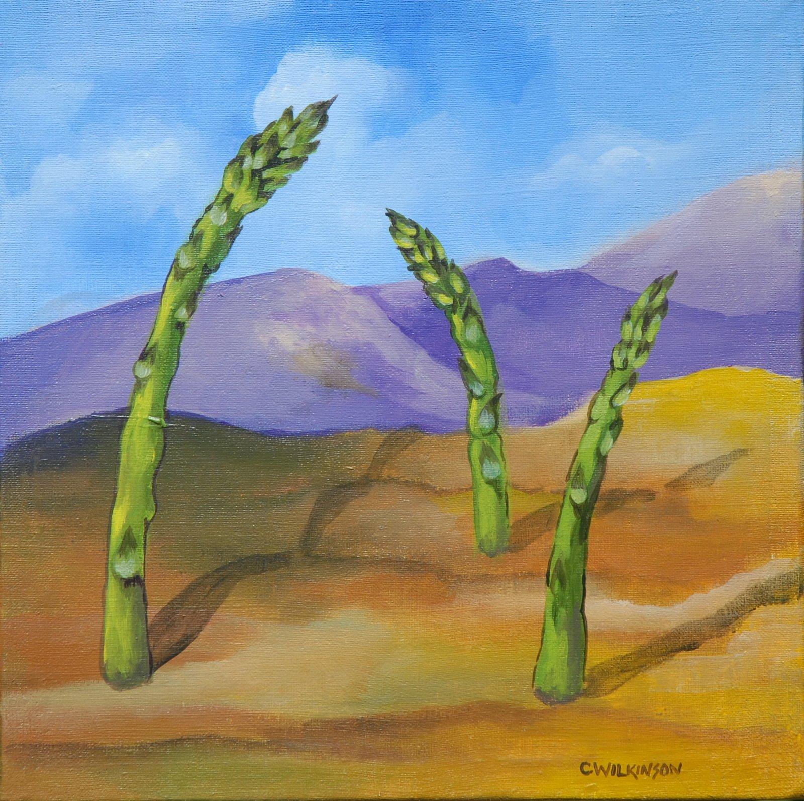 [Asparagus+Hill+12x12+Acrylic+on+Canvas]