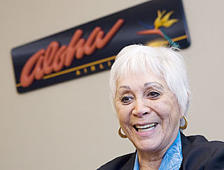 Patti Smart, Aloha Airlines No. 1 Flight Attendant