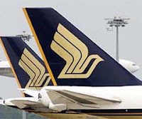 Singapore Airlines aircraft tails