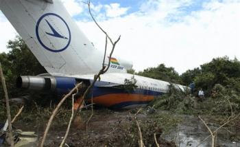 Lloyd Aéreo Boliviano B727 accident site