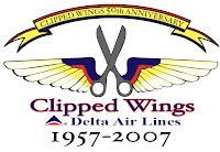 Delta Clipped Wings logo