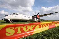SAS Q400 turboprop aircraft