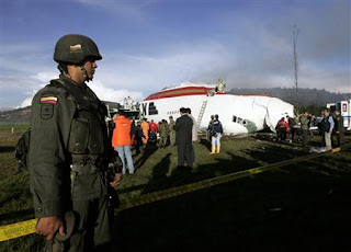 Kalitta Air B747 crash in Colombia