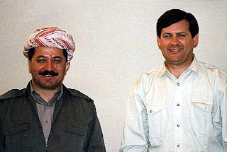 KRG President Mas'ud Barzani and author